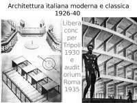 Architettura italiana moderna e classica 1926-40 - Profilo di architettura italiana del 900
