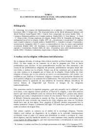 El contexto religioso actual: una aproximación sociológica
