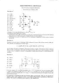 Elettronica digitale - Prova d'esame con soluzione
