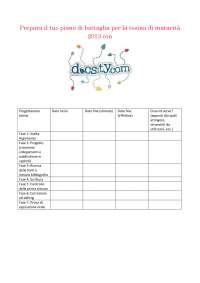 Calendario per la preparazione della Tesina di Maturità - Organizzati con Docsity