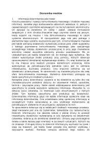 Ekonomika mediów - Notatki - Dziennikarstwo
