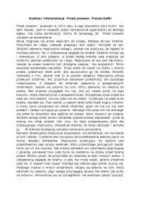 Analiza i interpretacja  Przed prawem  Franza Kafki - Notatki - Dziennikarstwo