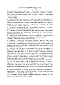 Dziennikarski kodeks obyczajowy - Notatki - Dziennikarstwo