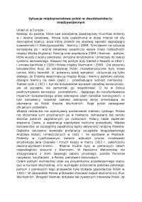 Sytuacja międzynarodowa Polski w dwudziestoleciu międzywojennym - Notatki - Dziennikarstwo