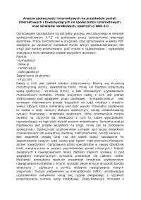 Analiza społeczności internetowych - Notatki - Komunikacja społeczna