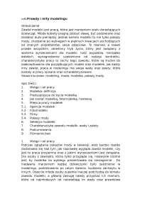 Prawdy i mity modelingu - Notatki - Dziennikarstwo