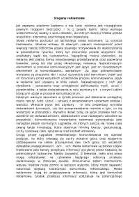Slogany reklamowe - Notatki - Reklama