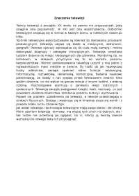 Znaczenie telewizji - Notatki - Reklama