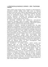 Psychologia reklamy - Notatki - Reklama