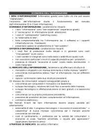 Appunti di Economia dell'informazione - Università di Pisa
