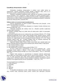 Komunikacja interpersonalna w diadzie - Notatki - Psychologia