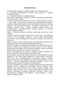 Rodzaje reklamy (2) - Notatki - Reklama