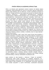 Analiza reklamy na podstawie reklamy Frugo - Notatki - Reklama