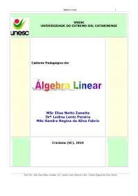Álgebra Linear - Apostilas - Engenharia Ambiental