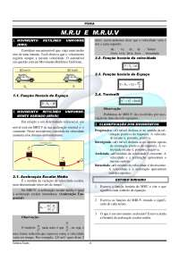 MRU e MRUV - Apostilas - Engenharia Aeronáutica