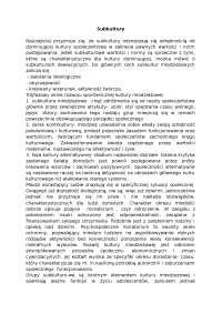 Subkultury - Notatki - Socjologia