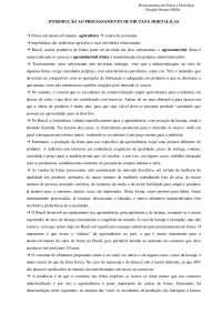 Processamento de Frutas e Hortaliças - Apostilas -  Engenharia Agrícola