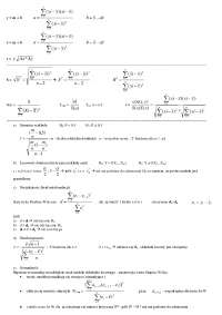 Wzory - Notatki - Ekonometria