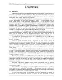 Precipitação - Apostilas - Engenharia Ambiental, Notas de estudo de Sociedade e Meio Ambiente