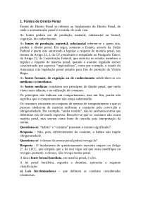 Fontes Direito Penal, Notas de estudo de Direito Penal