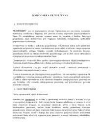 Gospodarka przestrzenna - Notatki - Ekonomia