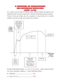 Encruamento dos Metais - Apostilas - Engenharia de Materiais