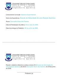 Reações Químicas - Apostilas - Engenharia de Materiais