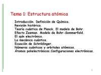 Estructura atómica - Mecánica