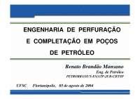 Engenharia de Perfuração e Completação de Poços - Apostilas - Engenharia de Petróleo