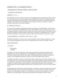 La Geografía Humana - apuntes - Geografía Humana