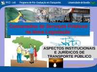 Concessões de Serviços Públicos - Apostilas - Engenharia de Transportes