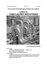 Tubulações Industriais - Apostilas - Engenharia de Produção, Notas de estudo de Engenharia de Produção
