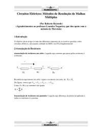 Métodos de Resolução de Malhas Múltiplas - Apostilas - Engenharia Elétrica