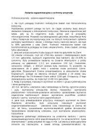 Pytania egzaminacyjne z ochrony przyrody - Notatki - Polityka rolna