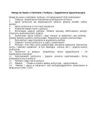 Wstęp do Nauki o Państwie i Polityce, zagadnienia egzaminacyjne - Notatki - Polityka