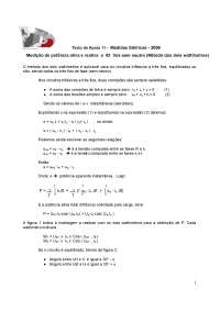 Método dos dois wattímetros - Apostilas - Engenharia Eletrônica
