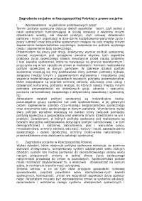 Zagrożenia socjalne w Rzeczpospolitej Polskiej a prawo socjalne - Notatki - Polityka