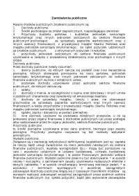 Zamówienia publiczne - Notatki - Polityka