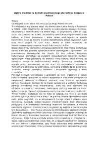 Wpływ mediów na kształt współczesnego stereotypu Rosjan w Polsce - Notatki - Stosunki międzynarodowe