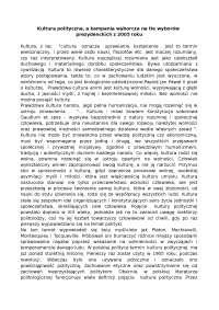 Kultura polityczna - Notatki - Polityka