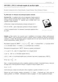 Aceleração angular de um disco rígido - Apostilas - Engenharia Física