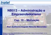 NB013 Cap 10 Motivação A2013 S1, Notas de estudo de Engenharia Informática