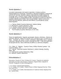 Teoria Quântica - Apostilas - Engenharia Física