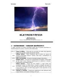 Eletrostática - Apostilas -  Engenharia Física