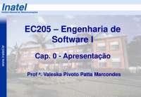 EC205 Cap 0 Apresentação A2013 S1, Notas de estudo de Engenharia Informática