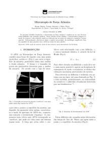 Microscopia de Força Atómica AFM - Apostilas - Engenharia Física