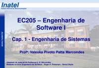 EC205 Cap 1 Engenharia de Sistemas A2013 S1, Notas de estudo de Engenharia Informática