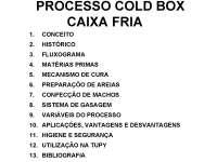 Processo Cold Box Caixa Fria - Apostilas - Engenharia Metalúrgica