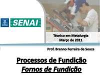 Fornos de Fundição - Apostilas - Engenharia Metalúrgica