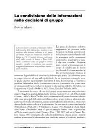 La condivisione delle informazioni nel gruppo